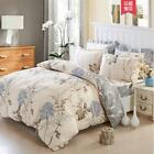 Floral Bedding Duvet Cover 4 Pc Cotton Quilt Set Twin Full/Queen King Size Ths01