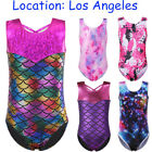 Kid Girls Ballet Leotards Sparkle One-piece Gymnastics Leotard Dancewear Tank