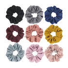 1X Cotton Linen Hair Scrunchies 11CM Ponytail Holders for Women Accessories