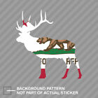 California Deer Shaped Flag Sticker Decal Vinyl CA stag hunting archery antlers