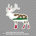 California Deer Shaped Flag Sticker Decal Vinyl V2 stag hunting archery antlers
