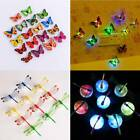 10×3D Butterfly LED Light Art Design Decal Wall Stickers Ho