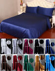 22MM 100% Real Mulberry Silk Duvet Cover Fitted Flat Sheets Bed Linens With Seam