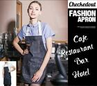 Fashion Jeans Style Apron Café Pub Bar Restaurant Waitress Waiter Staff Uniform