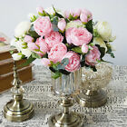 5 Heads Artificial Rose Flowers Bouquet Fake Silk Flower Party Home Room Dec Uk
