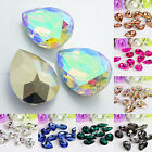 EE_ Wholesale 10 Pcs Teardrop Resin Rhinestones Beads 18 X 25mm DIY Pendant Chea