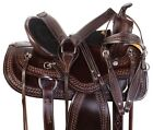 15 16 17 18 WESTERN PLEASURE TRAIL BARREL LEATHER HORSE SADDLE TACK