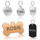 Stainless Steel Pet Dog Tags Personalized Disc Engraved ID N
