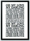 Unchained Melody - Righteous Brothers Song Lyrics Typography Print Poster Art