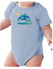 Infant creeper bodysuit One Piece t-shirt Dolphins Jumping k-573