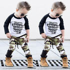 US 2PCS Kids Baby Boys Clothes Outfit Set T Shirt Tops+Camouflage Pants Leggings <br/> ✔Cyber Monday✔1 Days 5% Discount On Sale✔Fast Ship✔