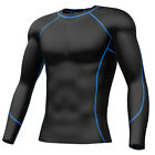 Mens Muscle Compression Top Shirt Base Layer Skins Long Sleeve Football Gym Wear