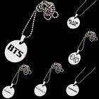 Kpop Bts Exo Got7 Twice Stainless Steel Pendant Long Chain Necklace Jewelry Uk