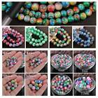 Wholesale 6/8/10/12mm Round Painting Coated Opaque Glass Loose Multi-Color Beads