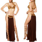 Princess Leia Slave Costume Women Adult Sexy Star Wars Halloween Fancy Dress US $14.99 USD on eBay