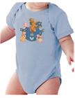 Infant creeper bodysuit One Piece t-shirt Rocking Horse Teddy Bear k-630