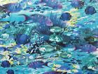Angelfish Fabric Ocean Blue Timeless Treasures Quilting Sewing Cotton BTHY BTY
