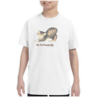 Youth Kids T-shirt My Cat Kneads Me Kitten Kitty k-695