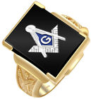 Customizable Two Tone Open Back 10k 14K Yellow White Gold Blue Lodge Ring