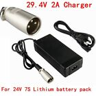 29.4V 2A Li ion Battery Charger XLR 24V 2A For 25.2V 7S Ebike Hoverboard