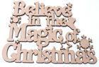 Wooden Believe in the Magic of Christmas Hanging Sign Mdf Plaque Craft Blank