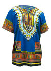 Внешний вид - Blue African Unisex Dashiki Shirt DP3751 Small to 7XL Plus Size
