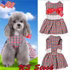 Dog Dress Girl Dog Clothes Pet Clothing Cat Skirt Yorkie Costume Plaids & Checks