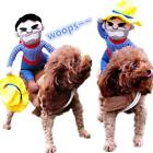 Dogs Cats Apparel Cosplay Costume Cowboy Riding Equipment Winter Puppy Coat Warm
