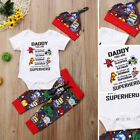 USA Newborn Baby Boys Girls Avengers Superhero Romper Pants Outfits Set Clothes