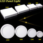 24W 18W 12W 6W LED Ceiling Panel Down Light Surface Mount Lamp Fixture AC85-265V