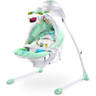 Caretero Bugies Babyschaukel Schaukelwippe Babywippe Wippe Sitz Timer Mobile