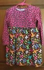 Flap Happy 2 pc outfit Pink and Brown print sz12mos,24mos,3,4,5,6,7