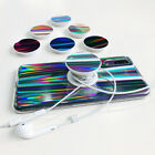 For Samsung Galaxy A6 S9 S8 J3 J5 J7 A5 PopSockets Stand Case Aurora Laser Cover