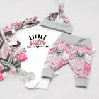 Fashion Newborn Baby Girl Unicorn Print Top Romper Skirt Pants Outfit Clothes US
