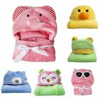 Child Infant Baby Kids Animal Bathrobe Bath Towel Soft Flann