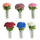 Single Stem Artificial Flower Fake Silk Rose Bridal Wedding Garden Home Decor Us