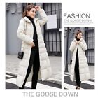 Womens Winter Warm Cotton Down Hooded Jacket Coat Fur Thicke