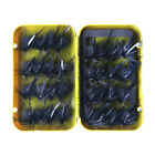 32pcs Dry Wet Fly Fishing Lure Nymph Woolly Bugger Streamer Emerger Caddis Trout