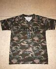 NWT NEW ORLEANS SAINTS BOYS DREW BREES #9 GREEN CAMO CAMOFLAUGE JERSEY SHIRT