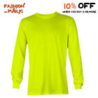 AAA ALSTYLE 1304 MEN'S PLAIN LONG SLEEVE T SHIRT CASUAL COTTON WORK SHIRTS TEE