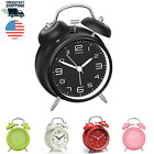 Twin Bell Alarm Clock Vintage Retro Style with Stereoscopic Dial, Backlight