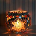 Round Modern Design Mosaic Glass Candle Tea Light Holder Lamp Home Table Decors