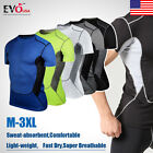 Men's Tight Athletic Apparel Base Layer Sportwear Gear Compression Tops T-Shirt