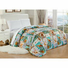Twin Full Queen King Bed Bears Fox Southwest Cabin Lodge Blue Comforter Bedding