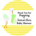 "12 Personalized POPPING BY Tags - 2"" - Scalloped Baby Shower Party Favor"