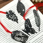 DIY Cute Kawaii Black Butterfly Feather Metal Bookmark for Book Paper Creative