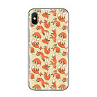 Funny Autumn Orange Halloween Pumpkin Skull Fox Deer Soft Cover Case Fits iPhone