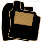 MG TF (2002 - 2005) Tailored Car Floor Mats Black (X)