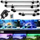 RGB LED Aquarium Lights With Remote Submersible Underwater Spot IP65 Lighting UK