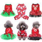 Pet Dog Christmas Costume Dress Jumpsuit Cat Puppy Apparel Winter Outfit Clothes